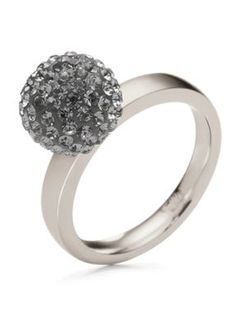 Folli Follie Match & Dazzle Ring Silver - House of Fraser