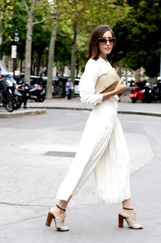 25 All-White Street Style Outfits We Love   StyleCaster