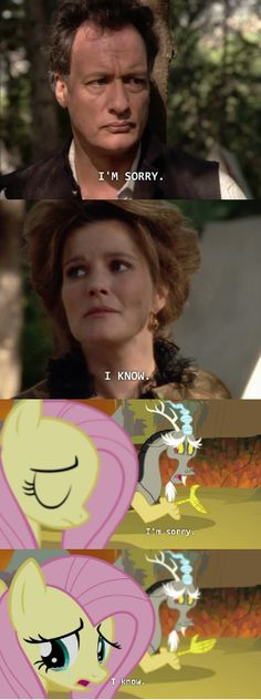 Q  Janeway / Discord  Fluttershy / parallels between Star Trek: Voyager and My Little Pony