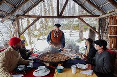 Francis Mallman's dining cabin