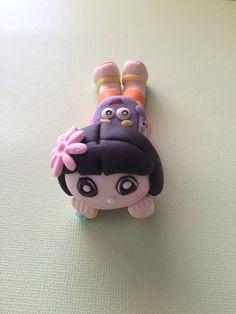 Dora the explorer inspired  topper by My Artisan Bakery