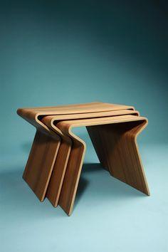Nest of tables, designed by Grete Jalk, Lange Production, Denmark. 1963.