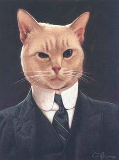"""Portrait of """"Henry"""" by world-renowned artist C. Payne Art, artists, cat lovers and the inspiration for all of them - the Foreclosure Cats. I Love Cats, Crazy Cats, Cool Cats, Chat Royal, Cat Background, Gatos Cats, Cat People, Cat Sleeping, Here Kitty Kitty"""