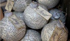 Esferas de Navidad con papel periódico » http://manualidadesnavidad.org/esferas-navidad-papel-periodico/
