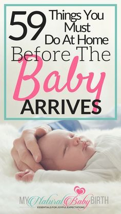 59 Things You Must Do At Home Before The Baby Arrives | Getting ready for your labor, delivery, birth, and newborn baby is busy enough when you're pregnant. Use this checklist to get your home ready so your third trimester of pregnancy runs smooth. | my natural baby birth