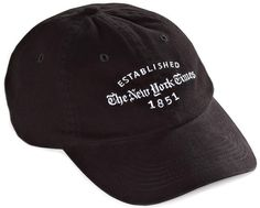 New York Times baseball cap - just a bit nicer than his usual sports team caps....