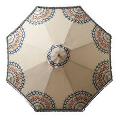 Suzani Hand-painted Outdoor Umbrella..... Want this for my patio this summer!