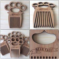 laser cut bamboo beard combs - Google Search
