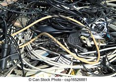 Stock Photo - Old electricity cables - stock image, images, royalty free photo, stock photos, stock photograph, stock photographs, picture, pictures, graphic, graphics