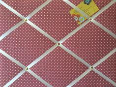 Medium XCm Red Hand Crafted Fabric Notice  Pin  Memo