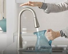 Touchless faucets that look amazing - check out these new designs at @moen now! #ad