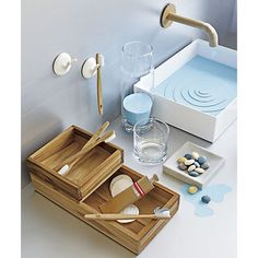 teak bath accessories in view all gifts | CB2
