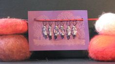handmade stitch markers glass beads recycled by BullyWoolYarns, $8.00