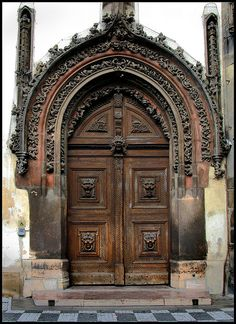 Gothic Door Old Town Hall Staré Město, Prague 1 by Blackburn lad1, via Flickr