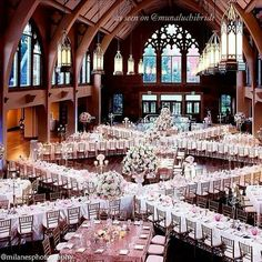 Wow wedding reception set up, when you have the space!