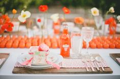 chemin de table orange