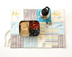 Organic Placemat with Cutlery Pocket - Organic Cotton by PurePixie on etsy!