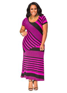Bias Stripe Cap Sleeve Maxi Dress Bias Stripe Cap Sleeve Maxi Dress
