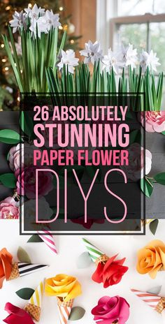 26 Absolutely Stunning Paper Flower DIYs http://www.buzzfeed.com/kollabora/ways-to-turn-paper-into-beautiful-flowers#.qsoW54dwA
