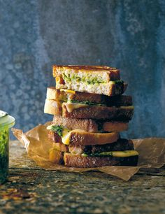 Ramsons paste toastie recipe from The New Nordic by Simon Bajada | Cooked