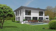 Stadtvilla 224m2 3D4 Style At Home, House Plans, Garage Doors, Mansions, House Styles, Outdoor Decor, Projects, Sims 4, Home Decor