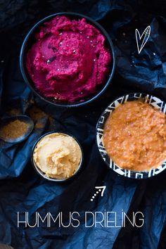 We smeren het op wraps, broodjes, pizza's en doen het zelfs door onze salades. Hummus, we zijn er dol op. Daarom delen we nu drie verschillende recepten.