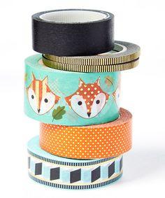 Look what I found on #zulily! Foxy Tape - Set of Six #zulilyfinds