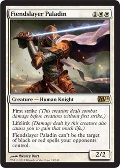 Magic The Gathering Fiendslayer Paladin 2017 Foil