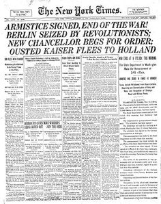 """Armistice Day (also known as Remembrance Day) is on 11 November and commemorates the armistice signed between the Allies of World War I and Germany at Compiègne, France, for the cessation of hostilities on the Western Front of World War I, which took effect at eleven o'clock in the morning—the """"eleventh hour of the eleventh day of the eleventh month"""" of 1918. While this official date to mark the end of the war reflects the cease fire on the Western Front, hostilities continued in other…"""