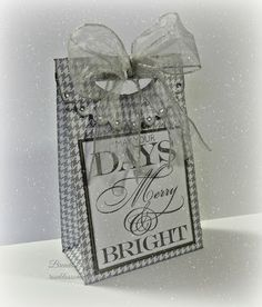Rose Blossom Legacies Cricut Artiste Gift Bag, CTMH, Sparkle and Shine paper, Frosted