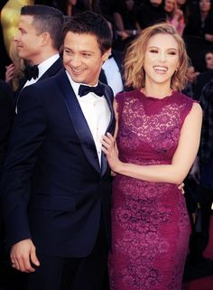 Jeremy Renner and Scarlett Johansson -- they are SO cute together. I would want them to get married, but unfortunately they are 13 years apart. 