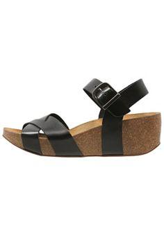 EMMY - Sandales compensées - black
