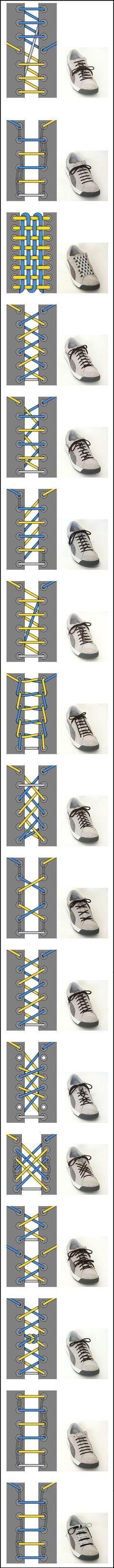 Shoe Lace Configurations! #shoes