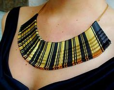WAY TOO FABULOUS! AN EXTREMELY ELEGANT COLLAR NECKLACE MADE OF BOBBY PINS!!! COOL!