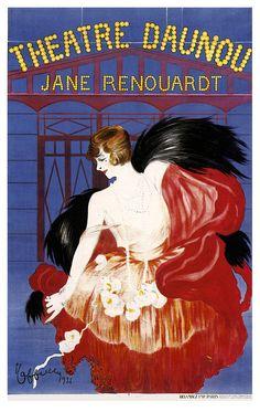 Leonetto Cappiello, Theatre Daunou vintage Poster