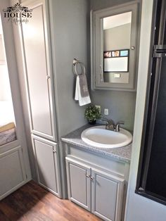 Fifth Wheel Painted Cabinets Google Search Rv Remodel Ideas Pinterest Paint Colors Grey Cabinets And Cabinets