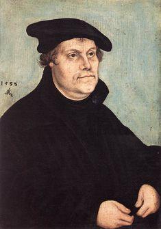 Portrait of Martin Luther 1533 by Lucas Cranach the Elder