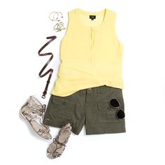 What a great site-seeing look! | Cargo Short Styled for a Sunny Day