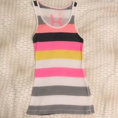 BUY 1, GET 2 FREE❗️PacSun Kirra striped tank Colorful striped tank top in perfect condition.  Material has some stretch Kirra Tops Tank Tops