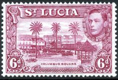 King George VI Postage Stamps: St. Lucia 1938 (22 Sept) - 48