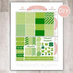 DIY March  Planner Kit  Perfect for Erin Condren by HelloAshleyann