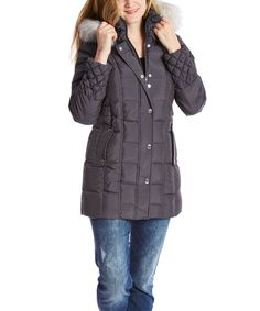 I have this Betsey Johnson Steel Quilted Puffer Coat. Looking for boots and accessories. Betsey Johnson, That Look, Winter Jackets, Comfy, Steel, Country, Boots, Clothing, Accessories