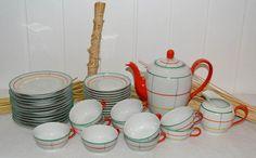 Porzellanmaufaktur FRanz Bauer, Kahla, DDR, GDR, Vintage Dinnerware