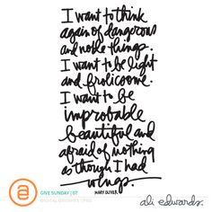 Ali Edwards | Blog: Give Sunday | 07