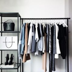 I like the idea of a clothes rail, maybe take the doors off my built in wardrobe to make it open
