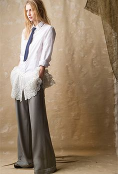 Vintage Shirt Dress and Wide Leg Pant from Gryphon New York