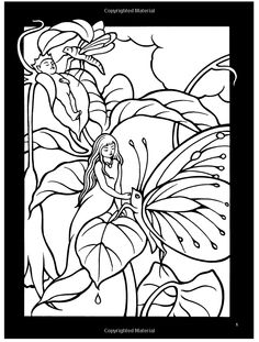 Fairyland Stained Glass Coloring Book (Dover Stained Glass Coloring Book): Richard Doyle, Marty Noble: 9780486430492: Amazon.com: Books