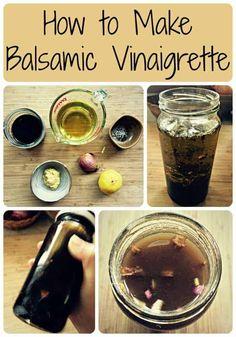 balsamic vinaigrette collage