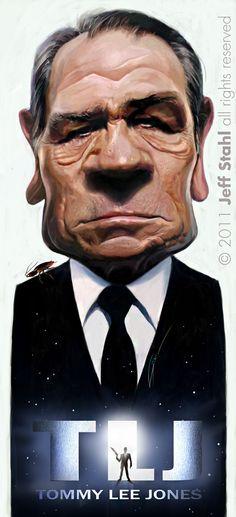 De getalenteerde Jeff Stahl maakt karikaturen van bekende mensen en dat doet hij zeker niet onverdienstelijk.