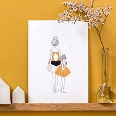 Illustration Balade petite fille - My lovely thing - fée pas ci, fée pas ça